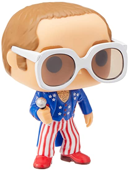 Funko Pop!- Rocks: Elton John Red, White, Blue
