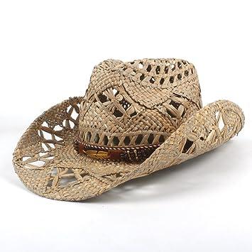 Gorras Sombreros Moda Mujer Hombre Vaqueros Occidentales Sombreros enrollar ala Ancha Vaquera Jazz Pañuelos para el Cuello (Color : Negro, ...