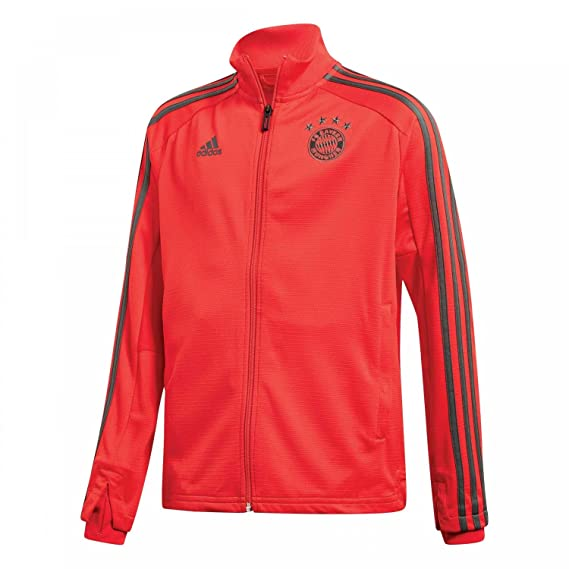 Amazon.com : adidas 2018-2019 Bayern Munich Training Track Jacket (Red) - Kids : Sports & Outdoors