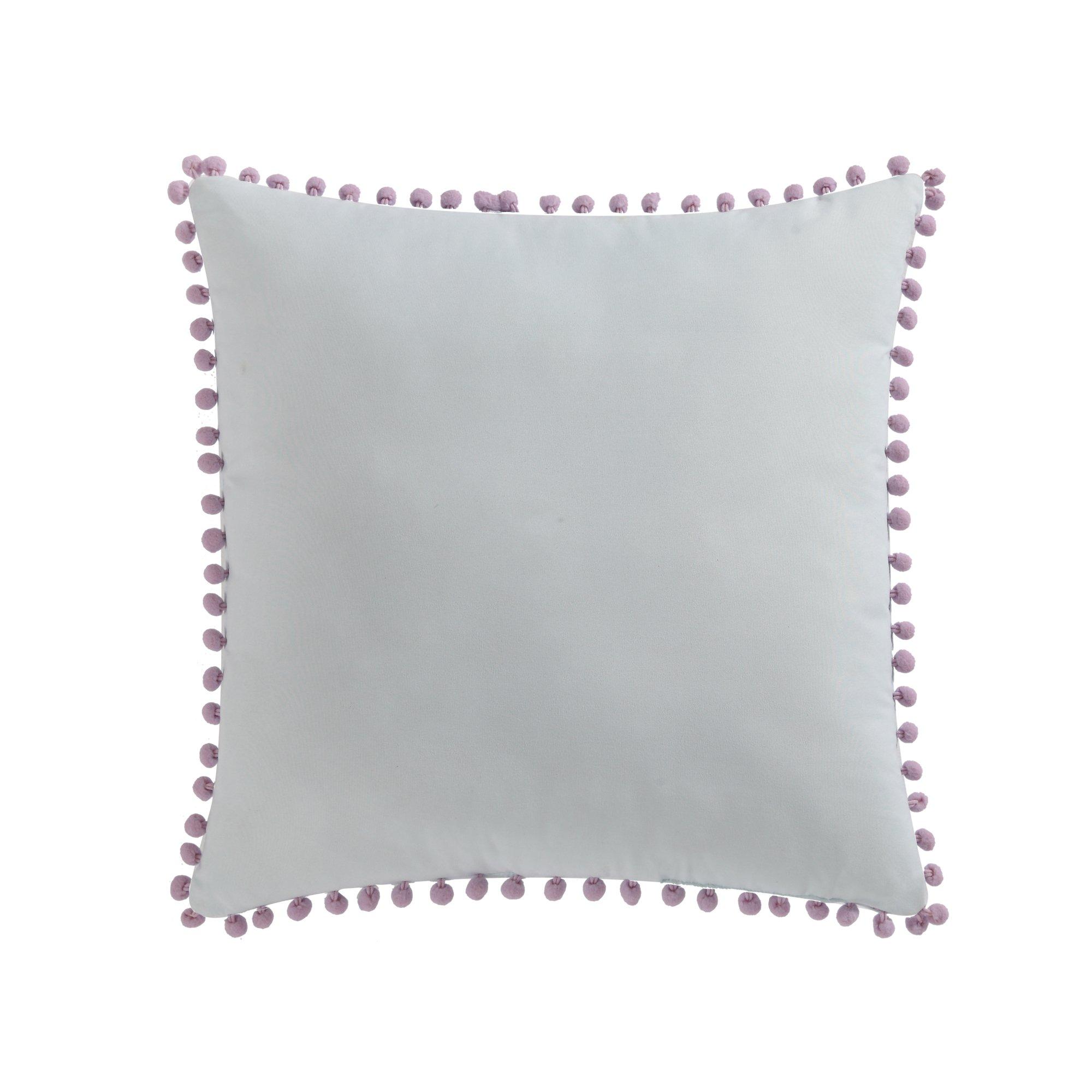 Laura Hart Kids Pom Decorative Pillow, 18x18'', Unicorn Princess