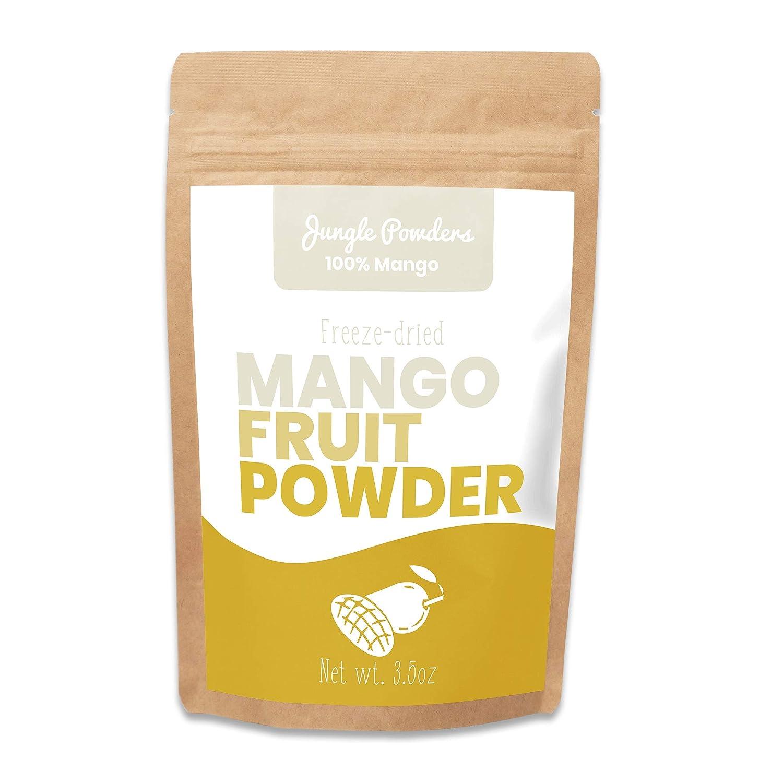 Jungle Powders Mango Powder | 3.5oz 100% Natural Non GMO Vegan Freeze Dried Mango Powder | Super Food Alphonso Mango Extract for Baking