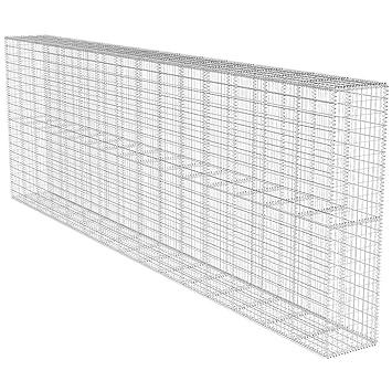 vidaXL Gabion Fermé pour Mur 600x50x200 cm Clôture de Jardin Base ...