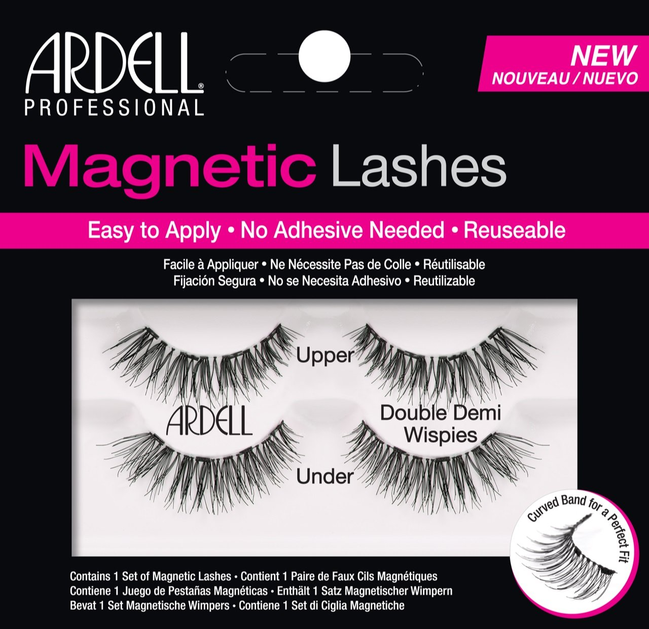 Ardell Professional Magnetic Double Strip Lashes, Demi Wispies AII67952