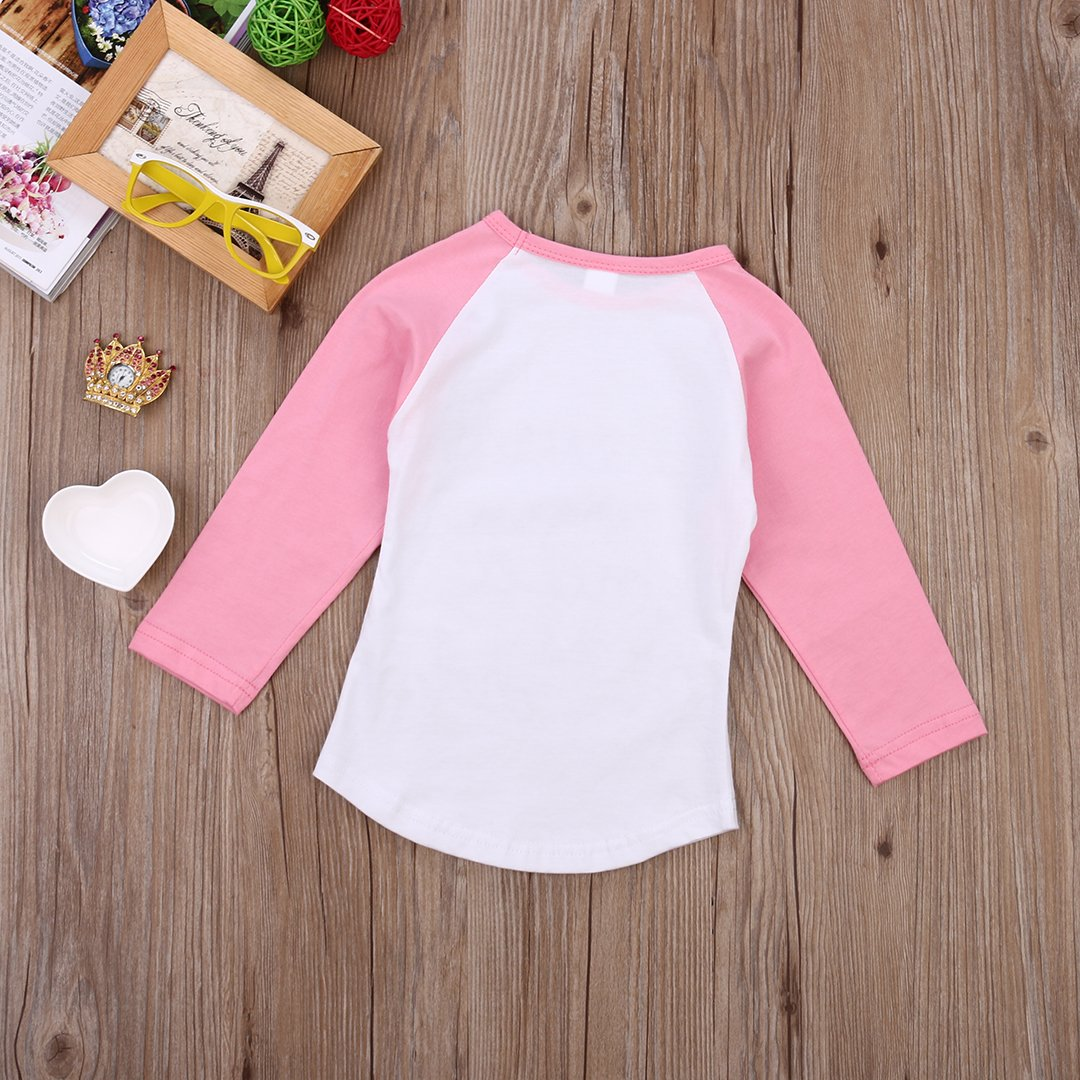Flower Tiger Fashion Baby Girls Letter Printing Long Sleeve T-Shirt Clothes Pullover Top