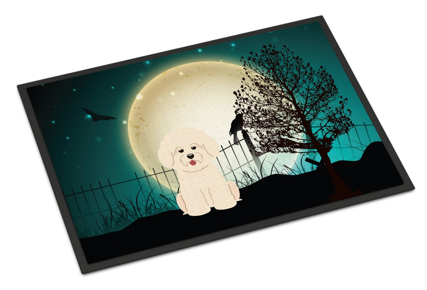 Carolines Treasures Halloween Scary Bichon Frise Indoor or Outdoor Mat 24x36 BB2265JMAT 24 x 36 Multicolor