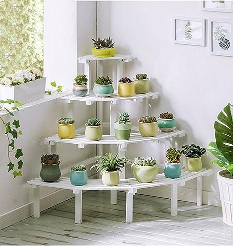 4 scaffali a fiore per scale in legno scaffali angolari in legno per ...