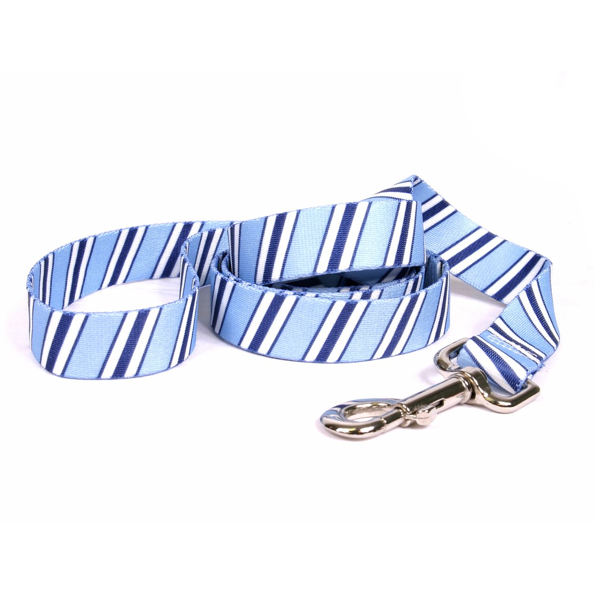 Yellow Dog Design Team Spirit Lt. Blue, Dark Blue and White Dog Leash-Size Large-1'' Wide and 5 feet (60'') Long