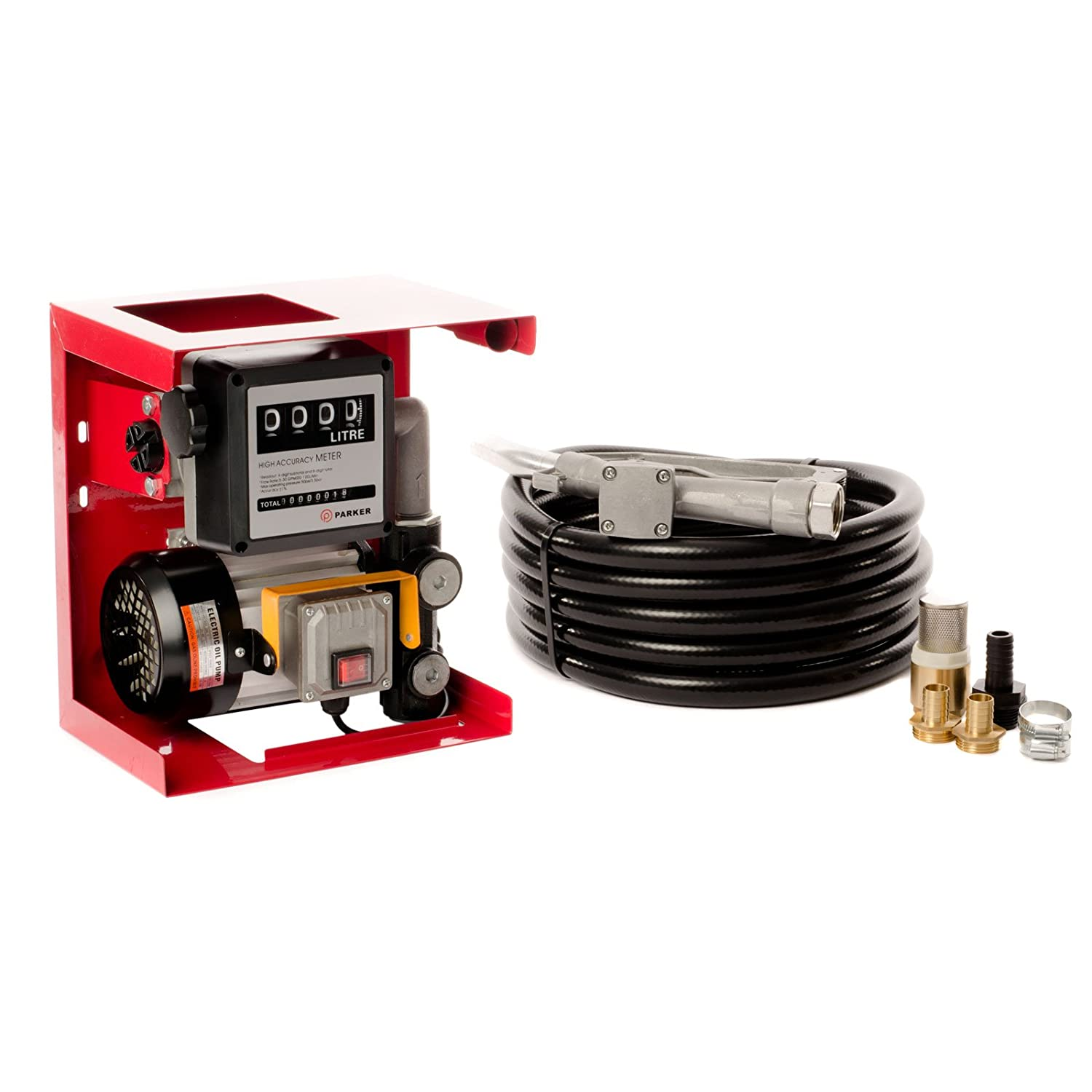 Parker 230V Wall Mounted Diesel Transfer Fuel Pump Kit - With Fuel Meter