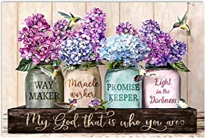 Purple Waymaker Flowers Horizontal Poster No Frame; Wall Decor Bedroom, Living Room, Office