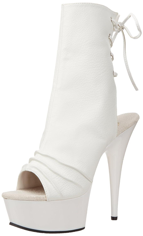 Pleaser Women's Delight-1018 Boot B003D14DBK 14 B(M) US White Polyurethane/White