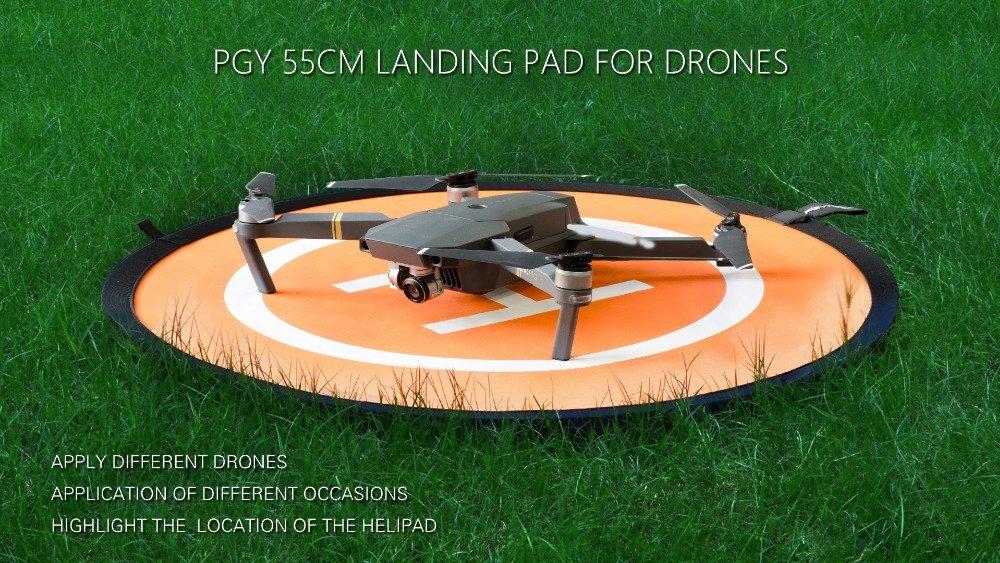 55CM PGYTECH Huaye Waterproof Landing Pad for Drones Quadcopter Parts Drone Accessories Landing Gear for DJI Mavic 2 Pro//Mavic 2 Zoom//Mavic Pro Phantom 2//3//4//Pro Inspire 1//2