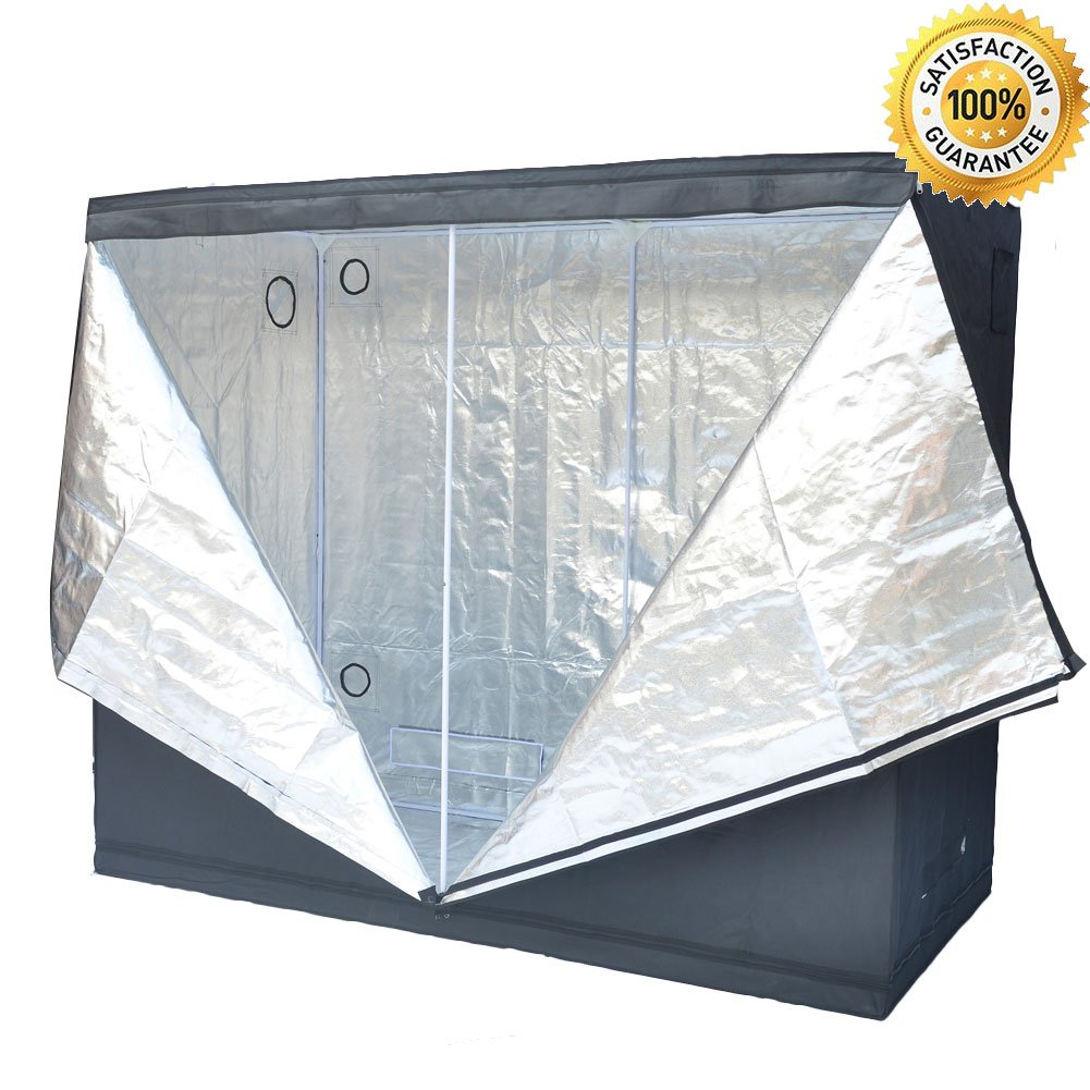 Grow Tent Indoor 8x4 Feet Not Include LED - Large Reflective Mylar Hydroponic/Hydro Waterproof Seedling Plant Growing Room for Grow Tents, Black 96''x48''x78''