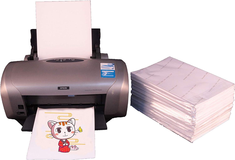 Papel de transferencia de calor para tela oscura, papel de transferencia de calor de inyección de tinta para camisetas, paquete de 50 hojas, por Unewprint: Amazon.es: Juguetes y juegos