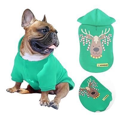 Buy Ichoue Christmas Pets Dog Hoodie Xmas Elk Reindeer Design Hooded