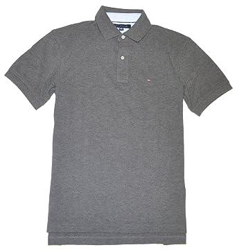 tommy hilfiger classic fit men polo t shirt medium dark grey
