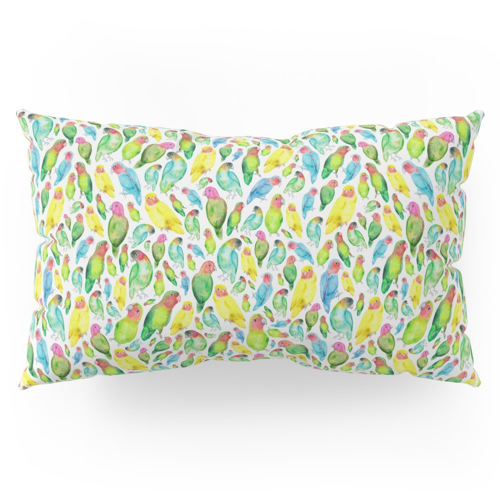 Society6 Love Birds Pattern Pillow Sham King (20'' x 36'') Set of 2