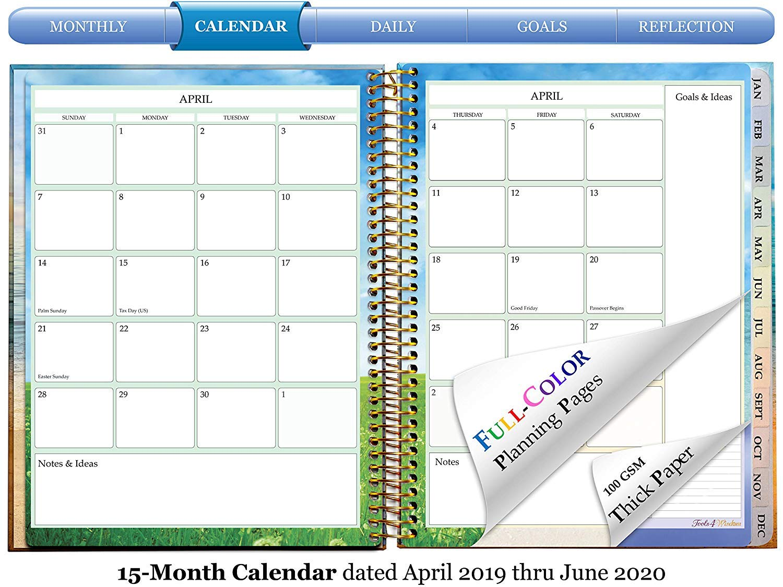 Amazon.com : Tools4Wisdom April 2019-2020 Planner - Daily ...