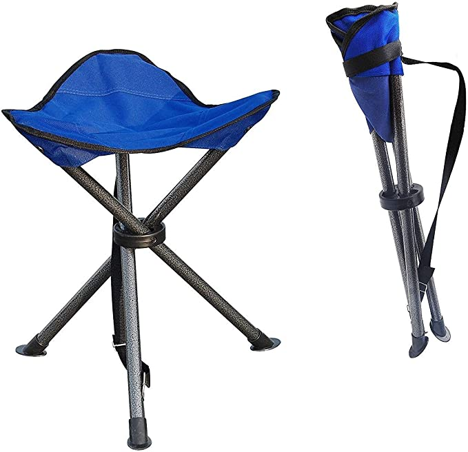 Aiso Weight Capacity 110 lb Daiso Mini Folding Chair Stool Beach Camping Traveling Brown 10 x 9 1//2 D