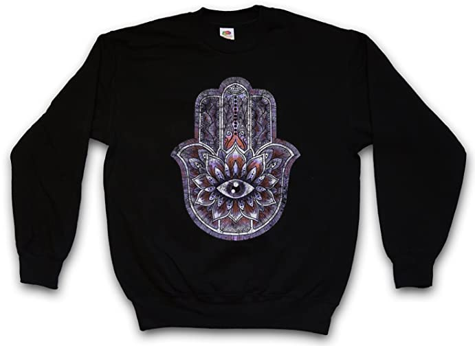 Urban Backwoods Hamsa Sweatshirt Hand India Hand Der Fatima Symbol