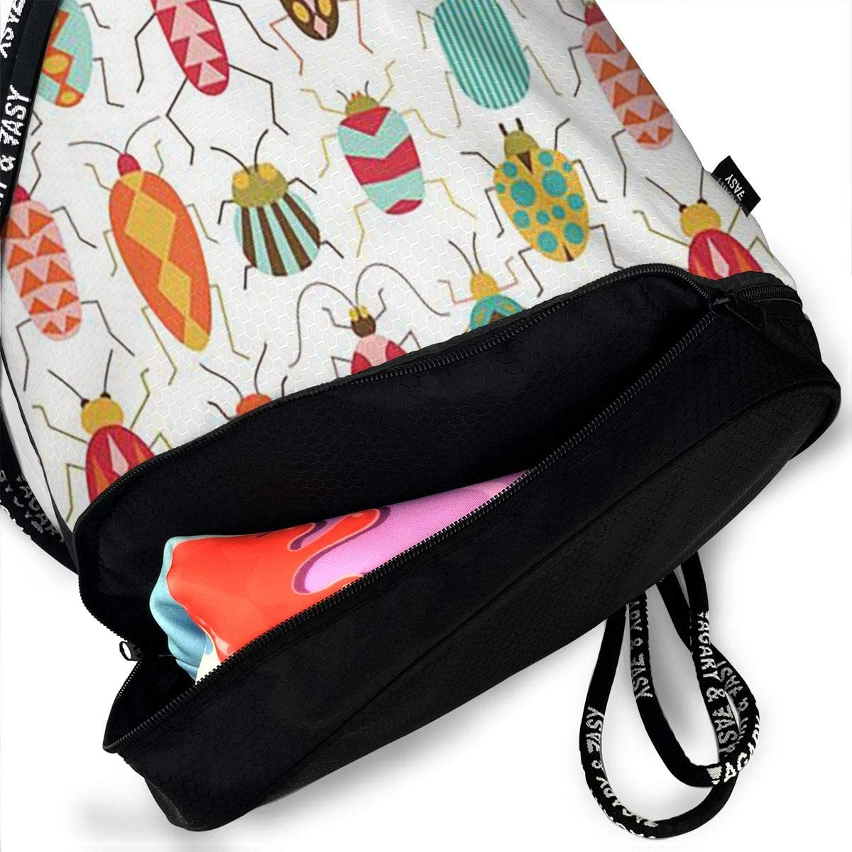 Insects Cinch Backpack Sackpack Tote Sack Lightweight Waterproof Large Storage Drawstring Bag For Men /& Women