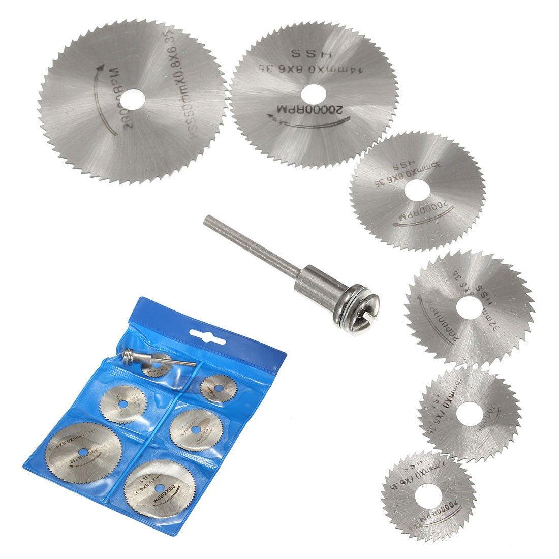 Juego de discos de corte de hojas de sierra circulares giratorias y mandril rotativo, de acero, para taladro