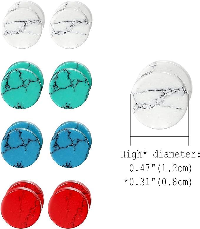 Cupimatch Lot de 3 paires de boucles doreilles /à tige en bois pour homme Unisexe 8 mm