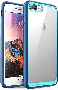 SUPCASE Unicorn Beetle Style Case Designed for iPhone 7 Plus, iPhone 8 Plus Case, Premium Hybrid Protective Clear Case for Apple iPhone 7 Plus 2016 / iPhone 8 Plus 2017 (Navy)