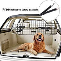 PUPTECK Dog Barrier for SUV Cars - Heavy Duty Adjustable Pet Wire Barrier