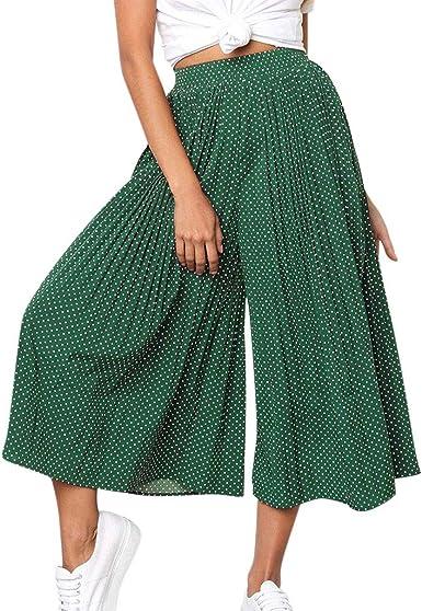 MOVERV Retro Pantalón Ancho de Lino y Algodón Mujer, Verano Holgados Baggy 3/4 Pantalones con Bolsillo Pantalón de Pierna Ancha Color Sólido Pantalón de Anchas Casual Largo Pantalones al Aire Libre: Amazon.es: