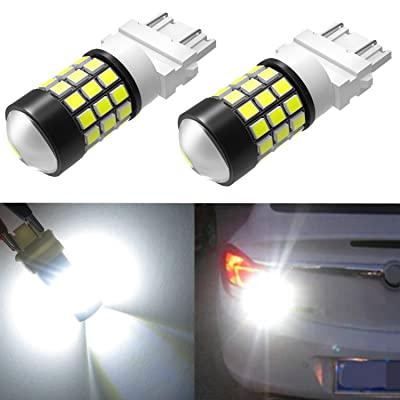 Alla Lighting T25 3157 3156 Strobe Reverse Light LED Bulbs Super Bright 2835 39-SMD High Power 3056 3156 4057 3457 3057 3157 LED Strobe Flashing Back-up Light Bulbs, 6000K Xenon White (Set of 2): Automotive