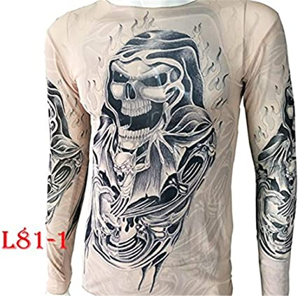 Uniqstore Tattoo Camiseta Bat Tótem Tatuaje Tops Tallas Grandes Manga Larga para Motocicleta Biker Gym MMA UFC Jeans: Amazon.es: Ropa y accesorios