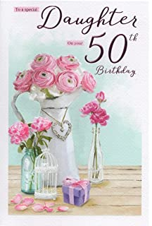 Daughter On Your 50th Birthday Card
