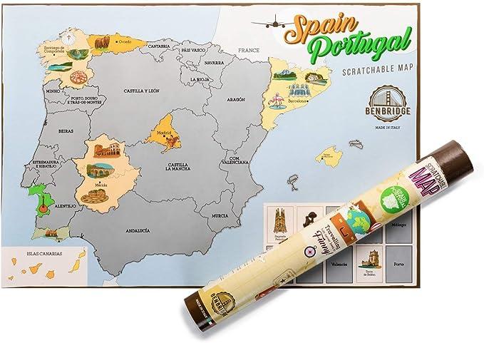 ESPAÑA by Benbridge - Mapa de España para Rascar - ¡Rasca los ...