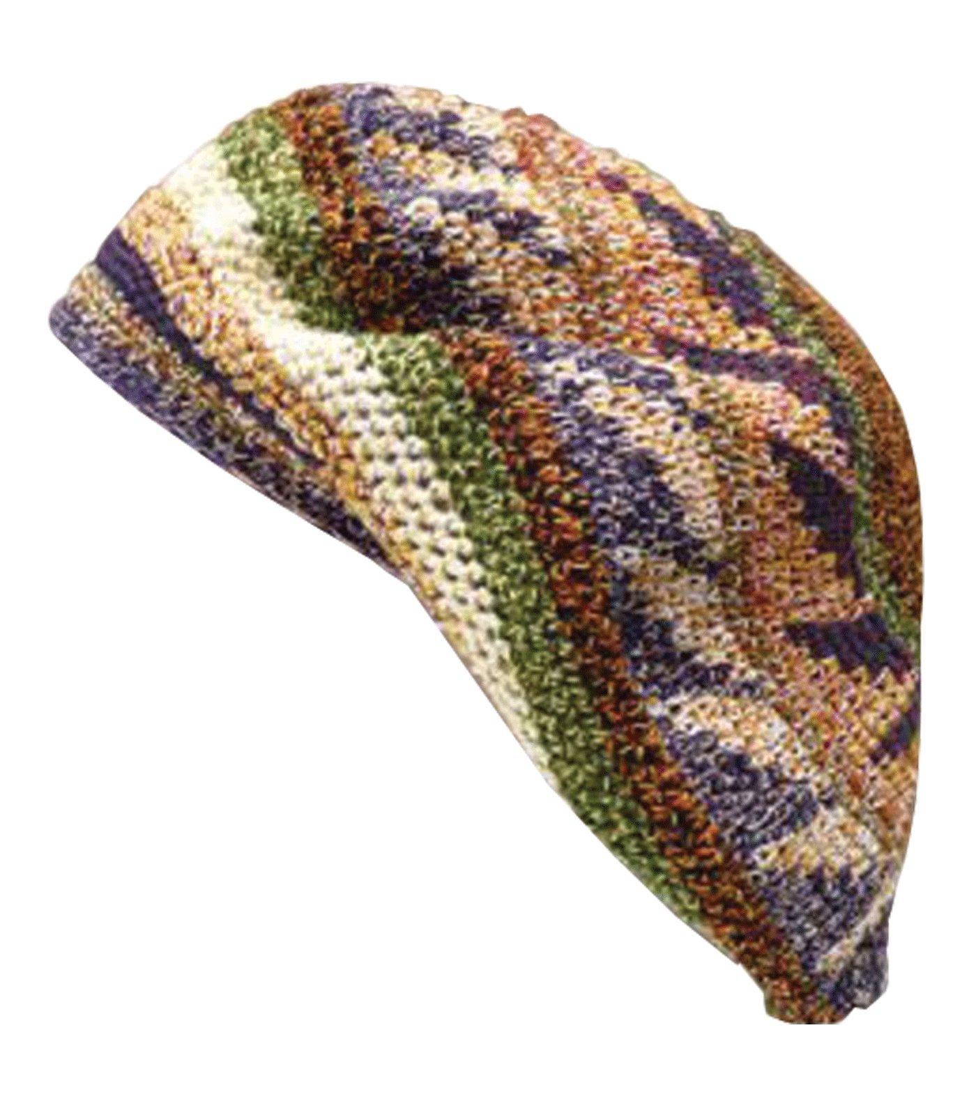 Inspirit Arts Tam Berets Hat Heathered Earth tone Crochet Knit Slouchy Dreadlock Cap