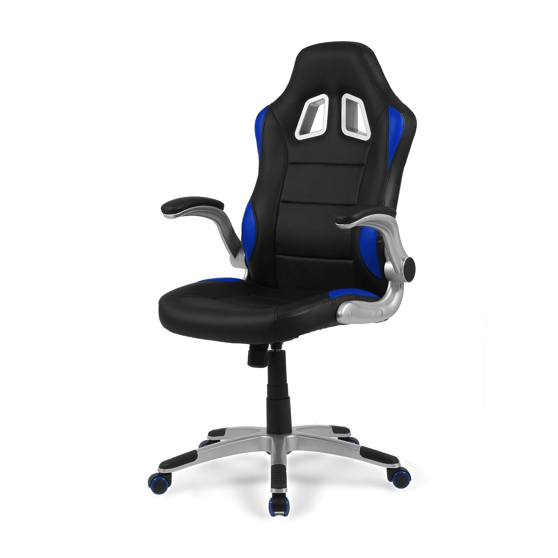 Due-home - Silla de Oficina Gaming, sillón Giratorio para Escritorio, Estudio o despacho, Color Rojo, Medidas: 70x115x68 cm de Fondo, Mugello: Amazon.es: ...