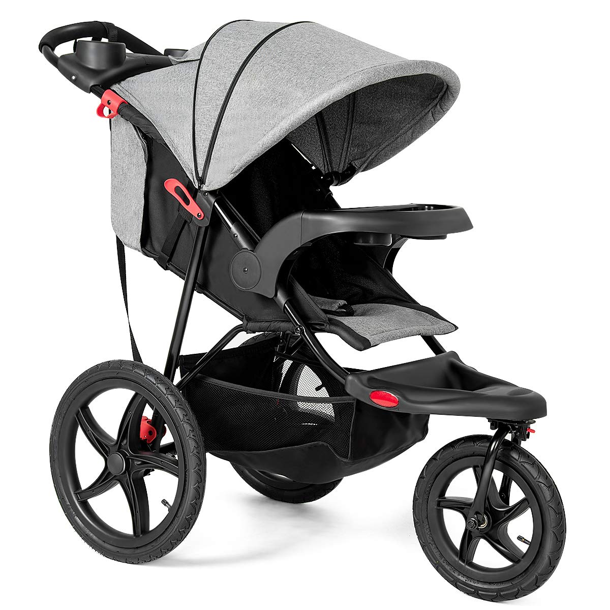 Costzon Baby Jogger Stroller Lightweight w/Cup Phone Holder (Gray)