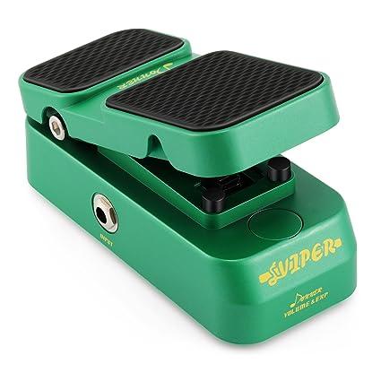 Donner Viper 2 en 1 Pedal de Expresión / Mini Pedal del volumen Pedal de Guitarra