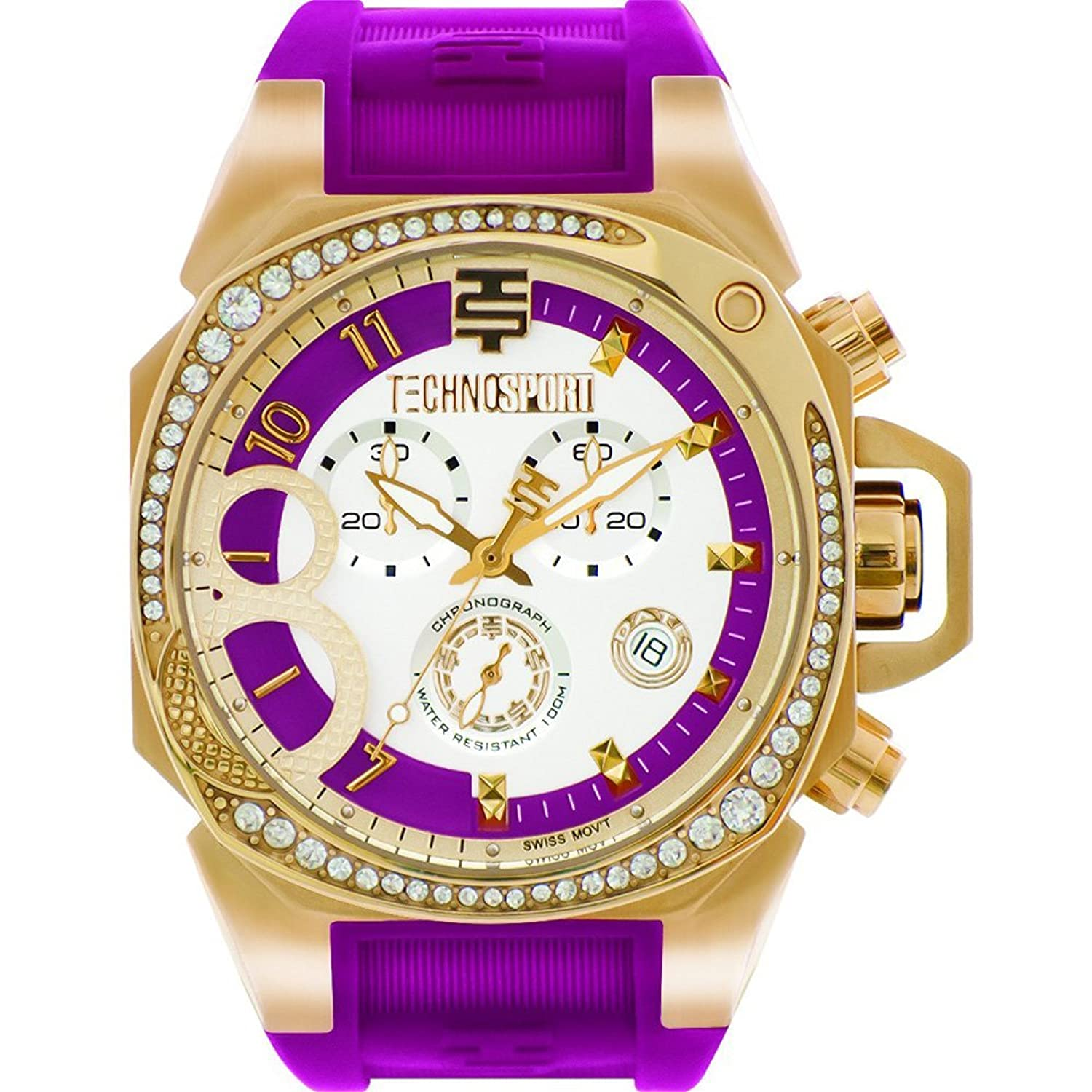 TechnoSport Damen Chrono Uhr - RADIANCE gold - cranberry