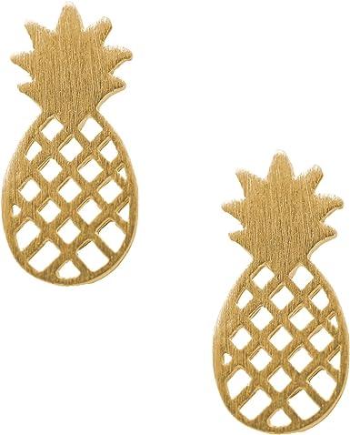 Metal filigree pineapple earrings