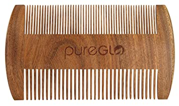 Magnificent Amazon Com Pureglo Beard Comb Handmade Wooden Fine Wide Tooth Short Hairstyles For Black Women Fulllsitofus