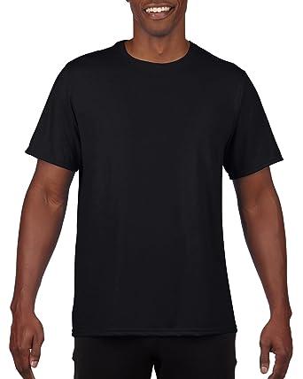 GILDAN Mens 100% Polyester Moisture Wicking Performance T Shirt Shirt