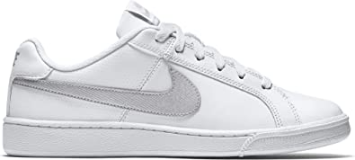 343af9ed5fb50 Nike Womens WMNS Court Royale White Metallic Silver Size 5