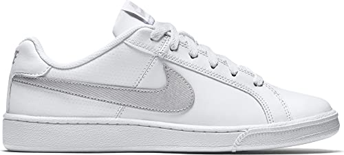 info for 55bd1 741bb Nike Court Royale, Scarpe da Tennis Donna, Bianco (WhiteMetallic Silver 100