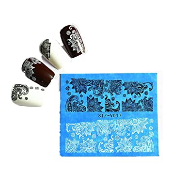 Amazon Ddlbiz New 48 Sheets Flower Lace Nail Art Water Transfer