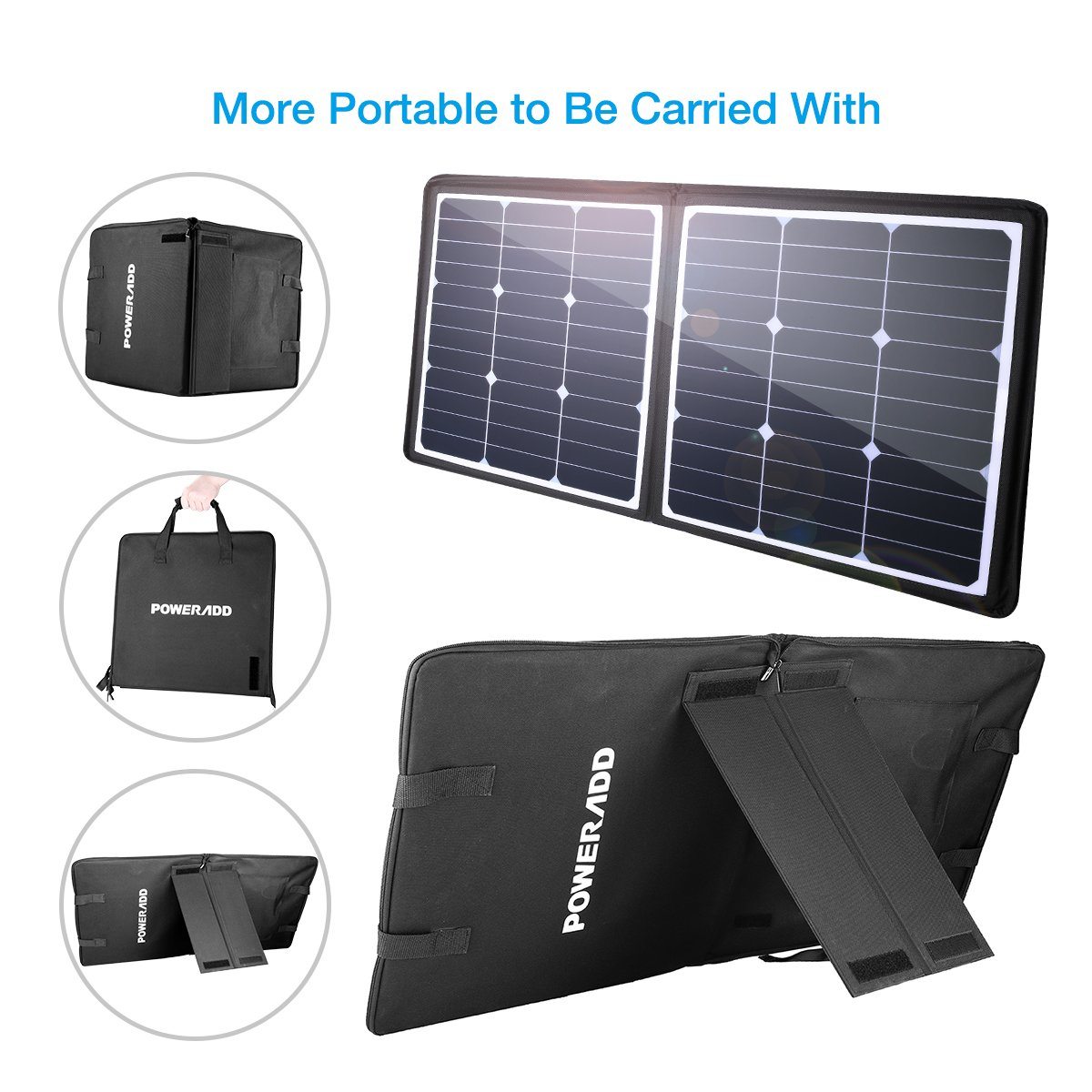 POWERADD [High Efficiency] 50W Solar Charger, 18V 12V SUNPOWER Solar Panel for Laptop, iPhone X / 8/8 Plus, iPad Pro, iPad mini, Macbook, iPad Samsung, ChargerCenter, Island Region and Country Tours by POWERADD (Image #6)