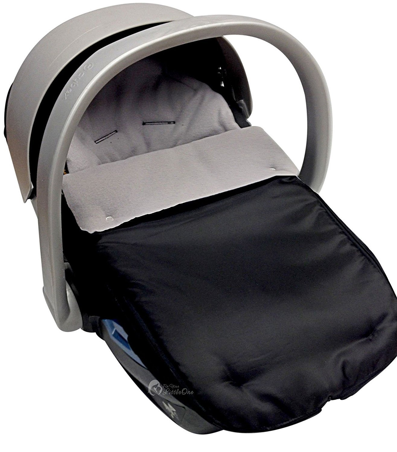 Car Seat Footmuff/Cosy Toes Compatible with Mamas and Papas Grey For-Your-Little-One