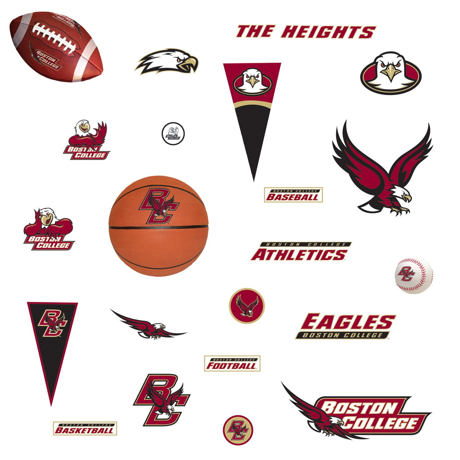 NCAA Boston College Eagles - 27 Boys College Sports Wall Stickers/Decals