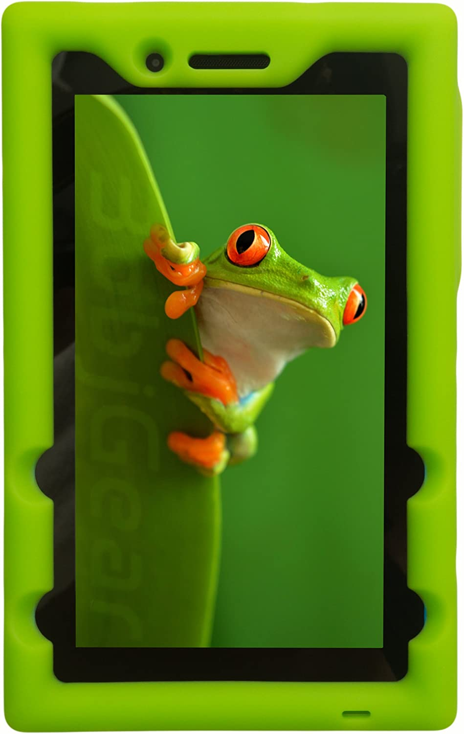 Bobj Rugged Case for Lenovo Tab 3 Essential TB3-710F TB3-710I (NOT for Tab 7 Essential TB-7304F or Any Other Lenovo Model) - BobjGear - Venting - Sound Amplification - Kid Friendly (Gotcha Green)