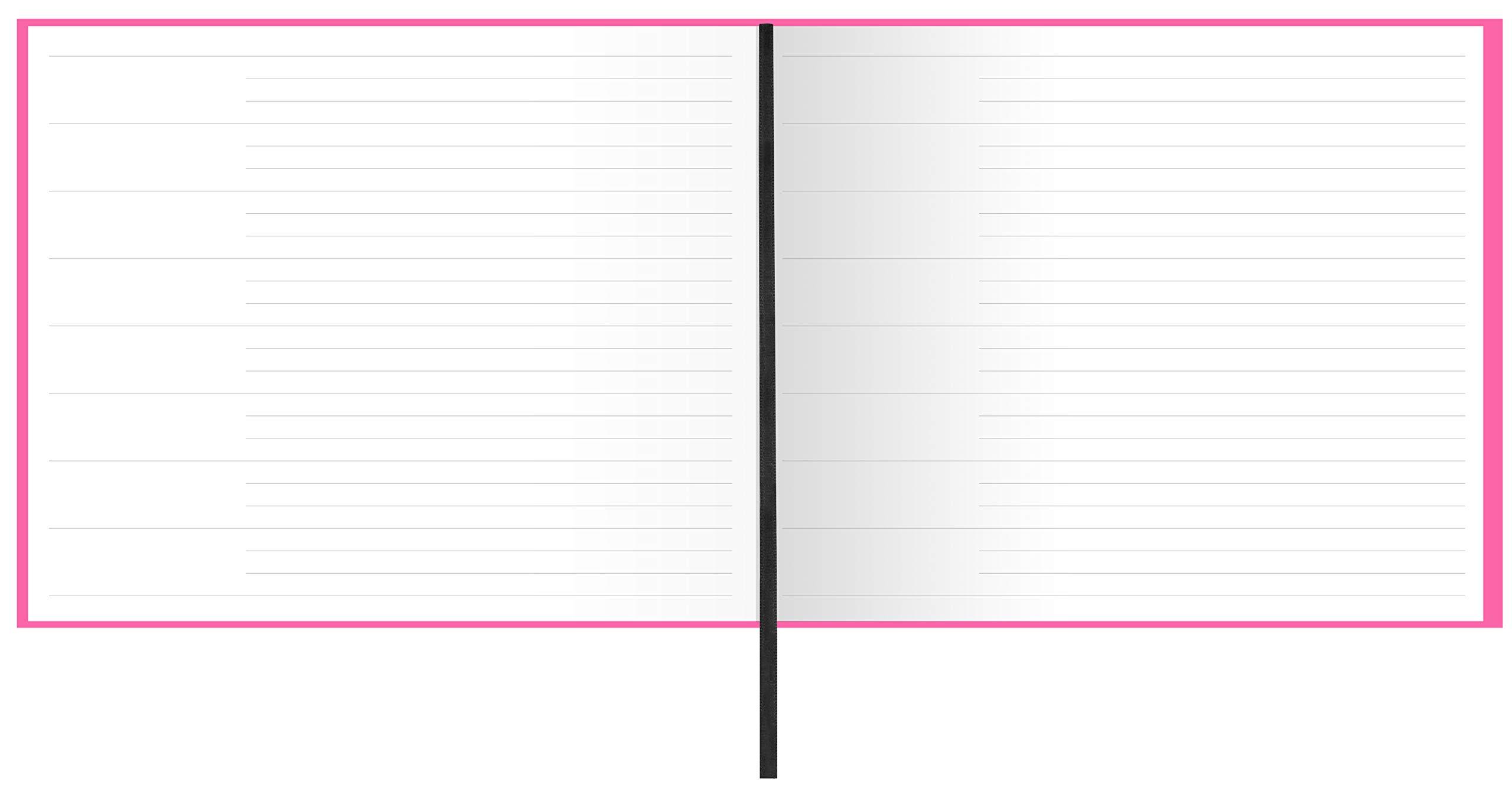 Letts 090015P Dazzle Quarto Landscape Guest Book - Pink by Letts (Image #3)