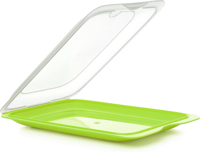 Tatay1180002 - Bandeja porta Embutidos apilable con sistema Fresh, Color verde, 17 x 3,2 x 25,2 cm
